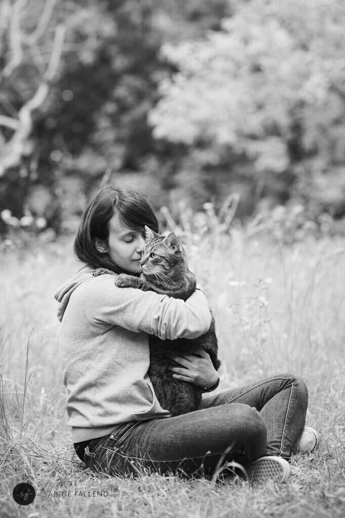 Katze und Mensch